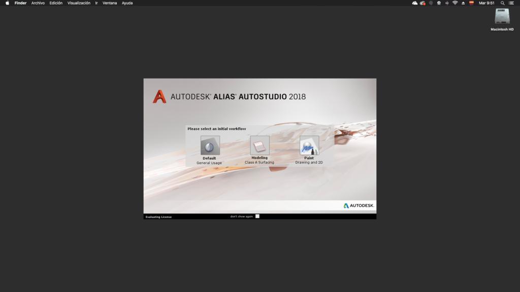 Autodesk Alias Autoestudio 2018